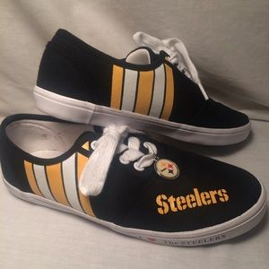 Shoes - Pittsburgh Steeler sneakers & charm worn once sz 7